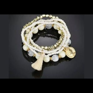 Women's multilayer natural stone crystal bracelets